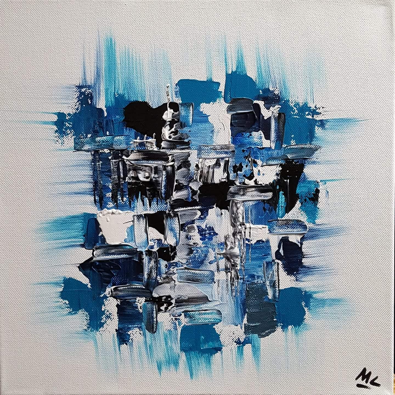Abstrakta N°8 Acrylique sur toile 30 x 30 cm