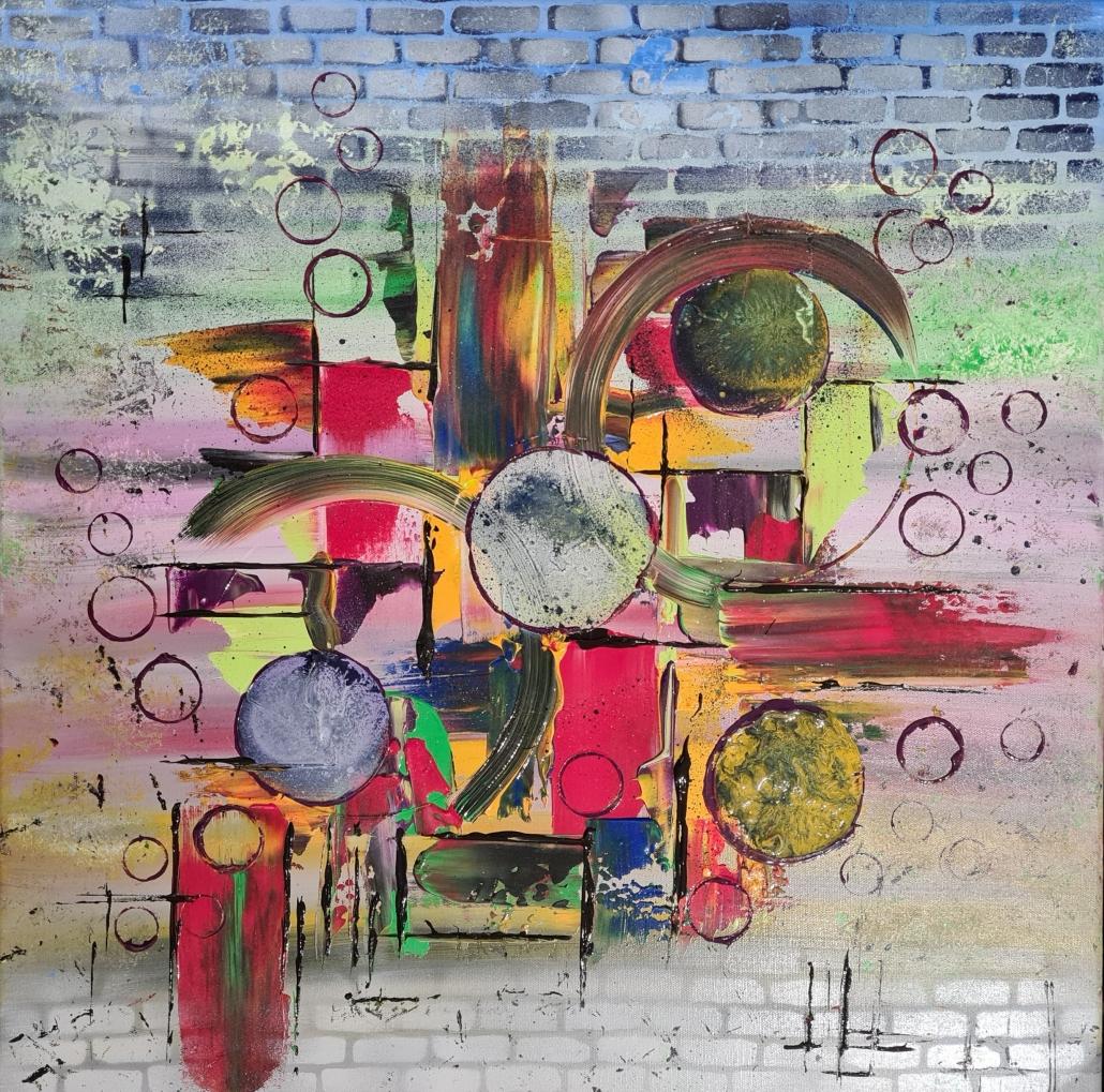 Acrylique sur toile 60 x 60 cm