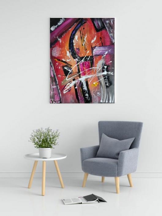 Toile abstraite Acrylique
