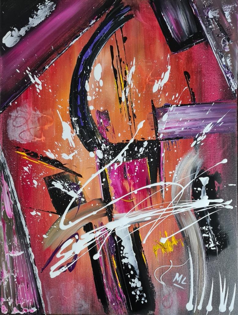 Art Abstrait acrylique sur toile